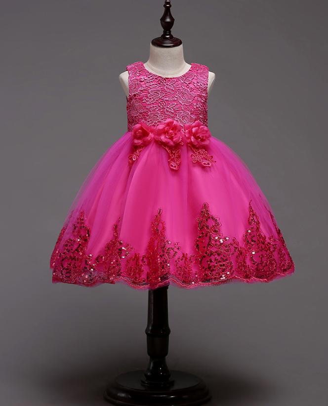 Платье малиновое короткое пышное нарядное для девочки , фото 1