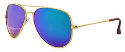 Cолнцезащитные очки Ray Ban Aviator капля 3025 сине-зеленая линза (реплика)