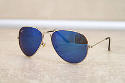 Cолнцезащитные очки Ray Ban Aviator синяя линза (реплика)