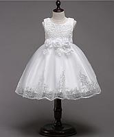 Платье белое короткое пышное нарядное для девочки , фото 1