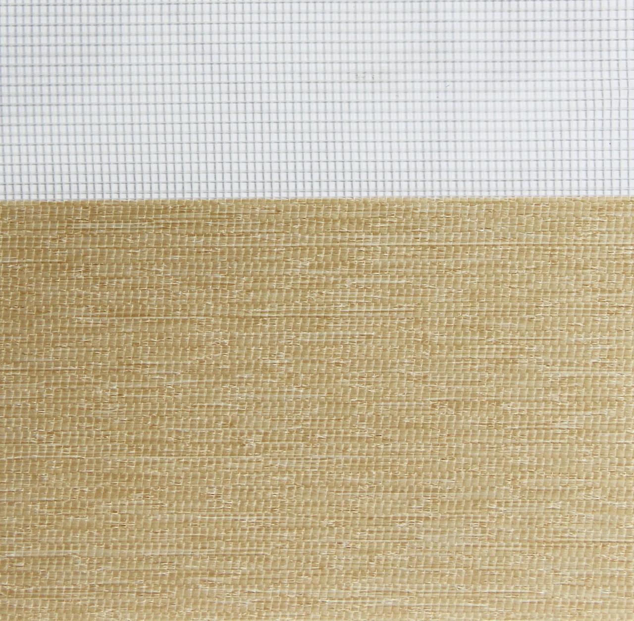 Рулонні штори День-Ніч Тканина Ріо Z-069 Льон