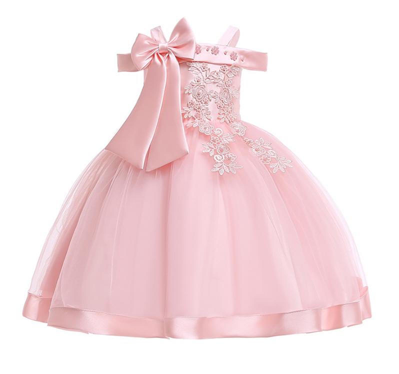 Платье нежно-розовое нарядное для девочки .