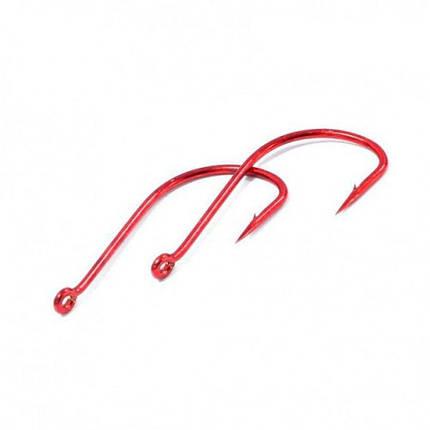 Крючки metsui TOKYO SODE цвет red, размер № 14, в уп. 12 шт. (8803720032571), фото 2