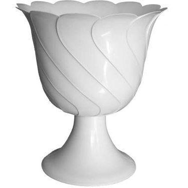 Пластмассовый горшок на ножке Тюльпан 16