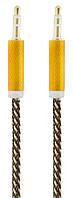 Аудио кабель Remax AUX 3,5мм ПАПА-ПАПА 1,5 метра (микс цветов)
