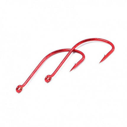 Крючки metsui TOKYO SODE цвет red, размер № 7, в уп. 12 шт. (8803720032625), фото 2