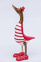 Утка красно-белая в цилиндре,высота 25см