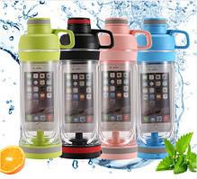 Бутылка для воды с отделением для телефона 5s