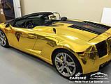 Авто пленка CARLIKE золотая зеркальная 40 х 152см глянцевая декоративная отражающая, фото 2