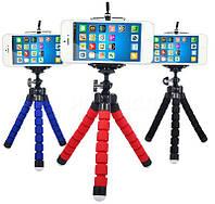 Гибкий мини штатив тринога трипод для телефона и камеры 25 см (осьминог, паук)