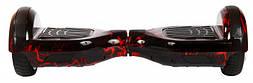 Гироборд 6,5 (самобаланс, подсветка, Bluetooth, сумка) Красная молния с пультом