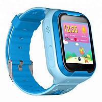 Детские водонепроницаемые телефон-часы с GPS трекером UWatch Q403 Android голубые