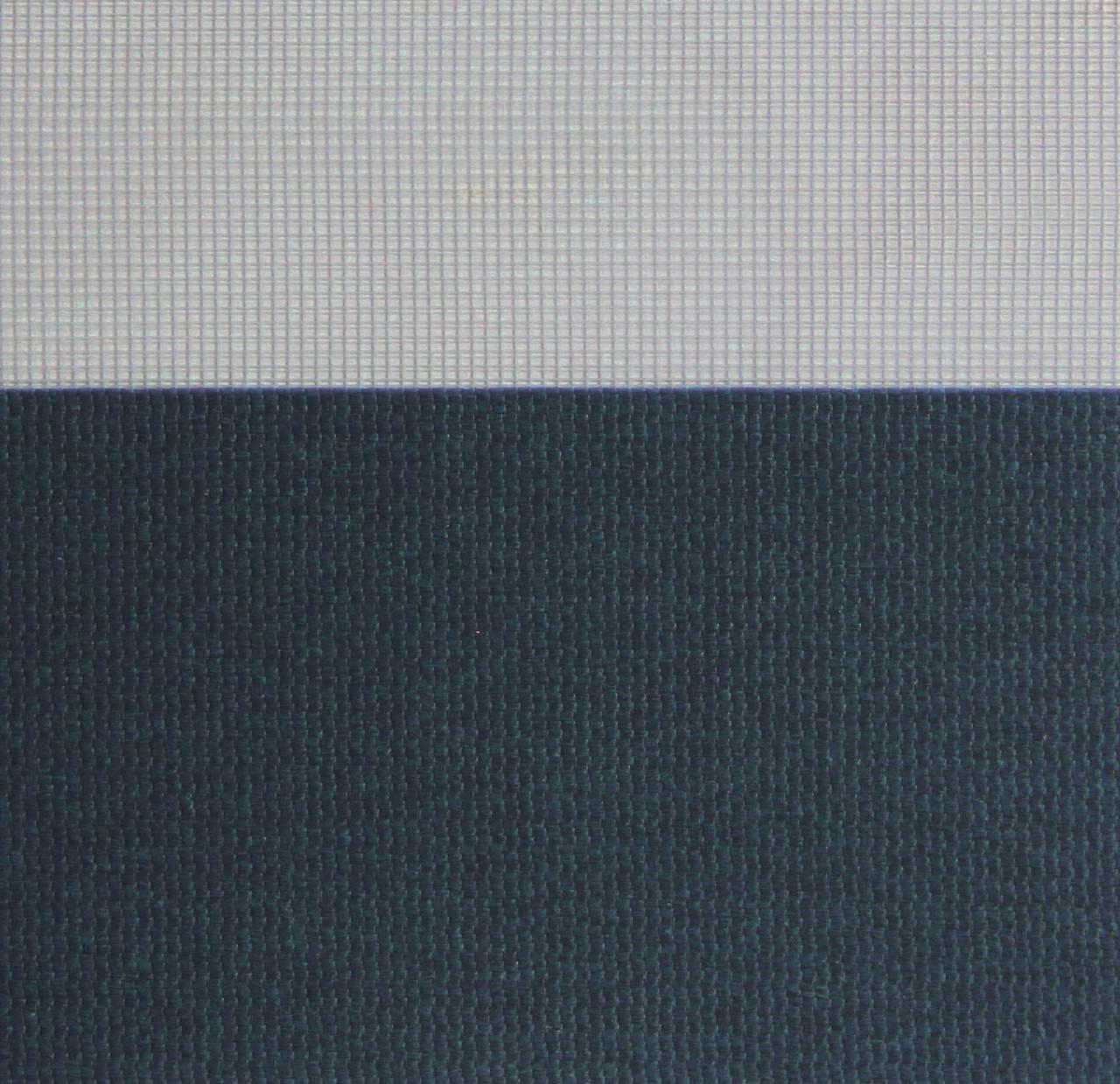 Рулонні штори День-Ніч Тканина Ріо Z-080 Синій