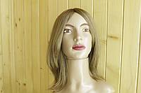 Женский парик из натуральных славянских волос, русый. Имитация кожи головы.