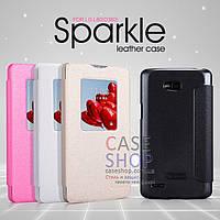 Кожаный чехол Nillkin Sparkle Series для LG D380 L80 Dual (КНИЖКА)