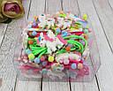 Детские резиночки для волос Единороги цветные 24 шт/уп., фото 2