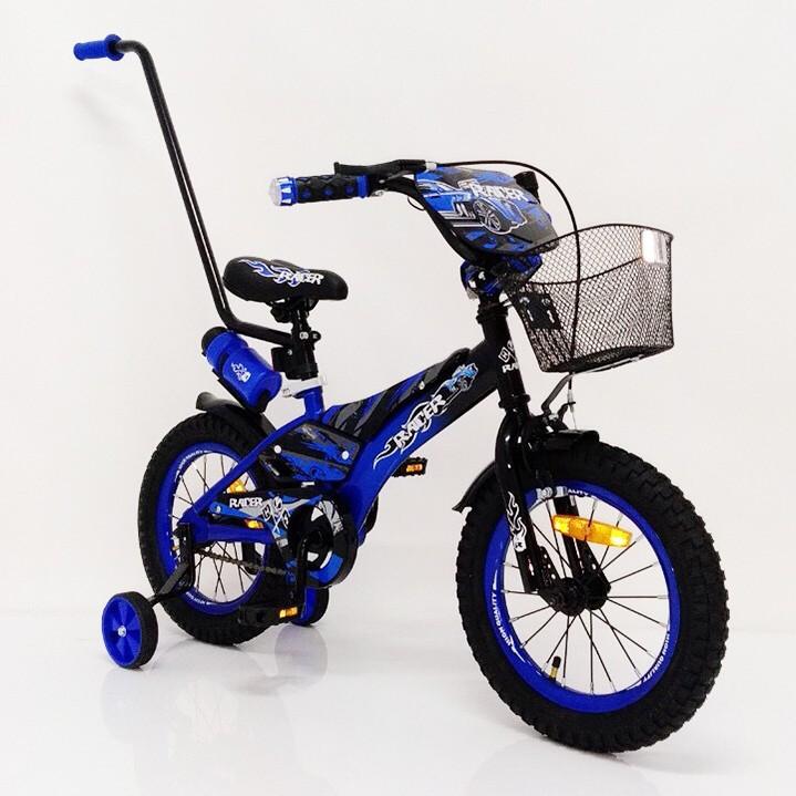 Дитячий велосипед з батьківською ручкою Racer 14 дюймів