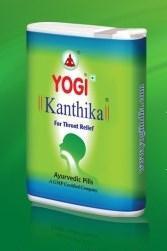 Леденцы от боли в горле и ангины Йоги Кантика / Yogi Kanthika , 140 таб