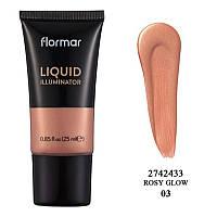 Жидкий хайлайтер Flormar Liquid Illuminator 03 Rosy Glow