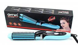 Многофункциональная плойка утюжок для волос 3в1 Gemei GM 2922 Blue