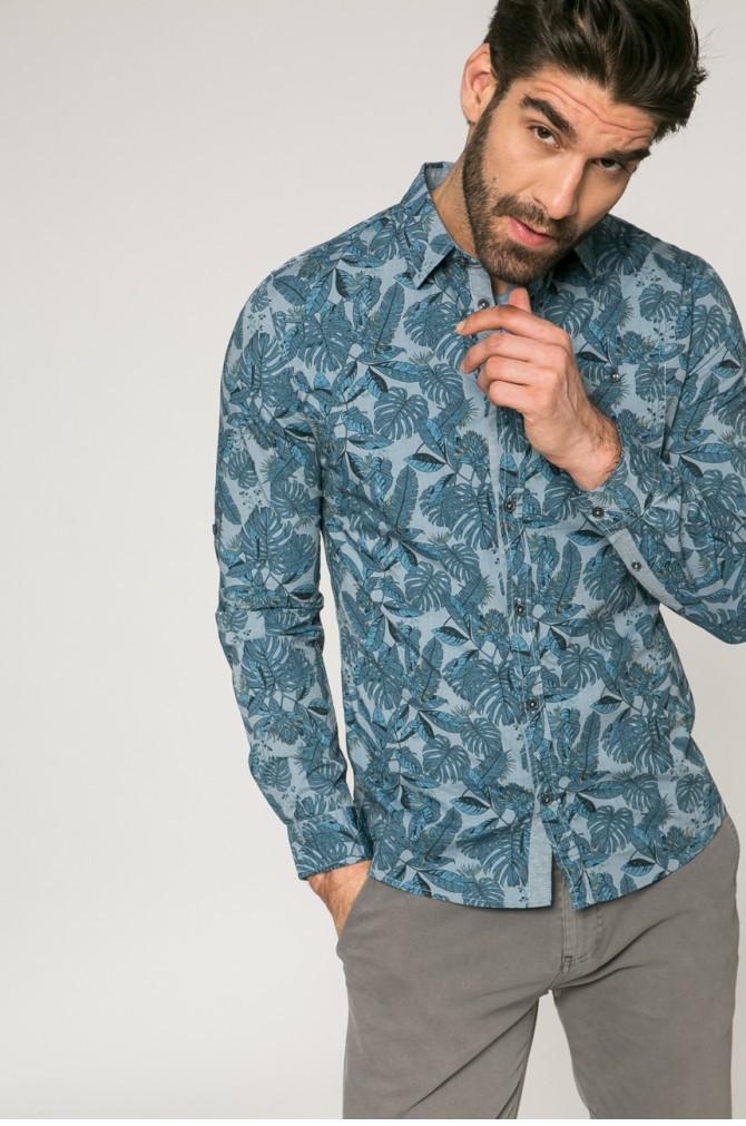 Рубашка мужская слим из узорной ткани Medicine