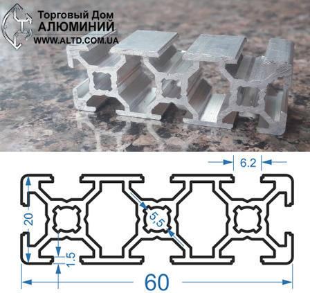 Станочный профиль ЧПУ станка| анод , 20х60, фото 2