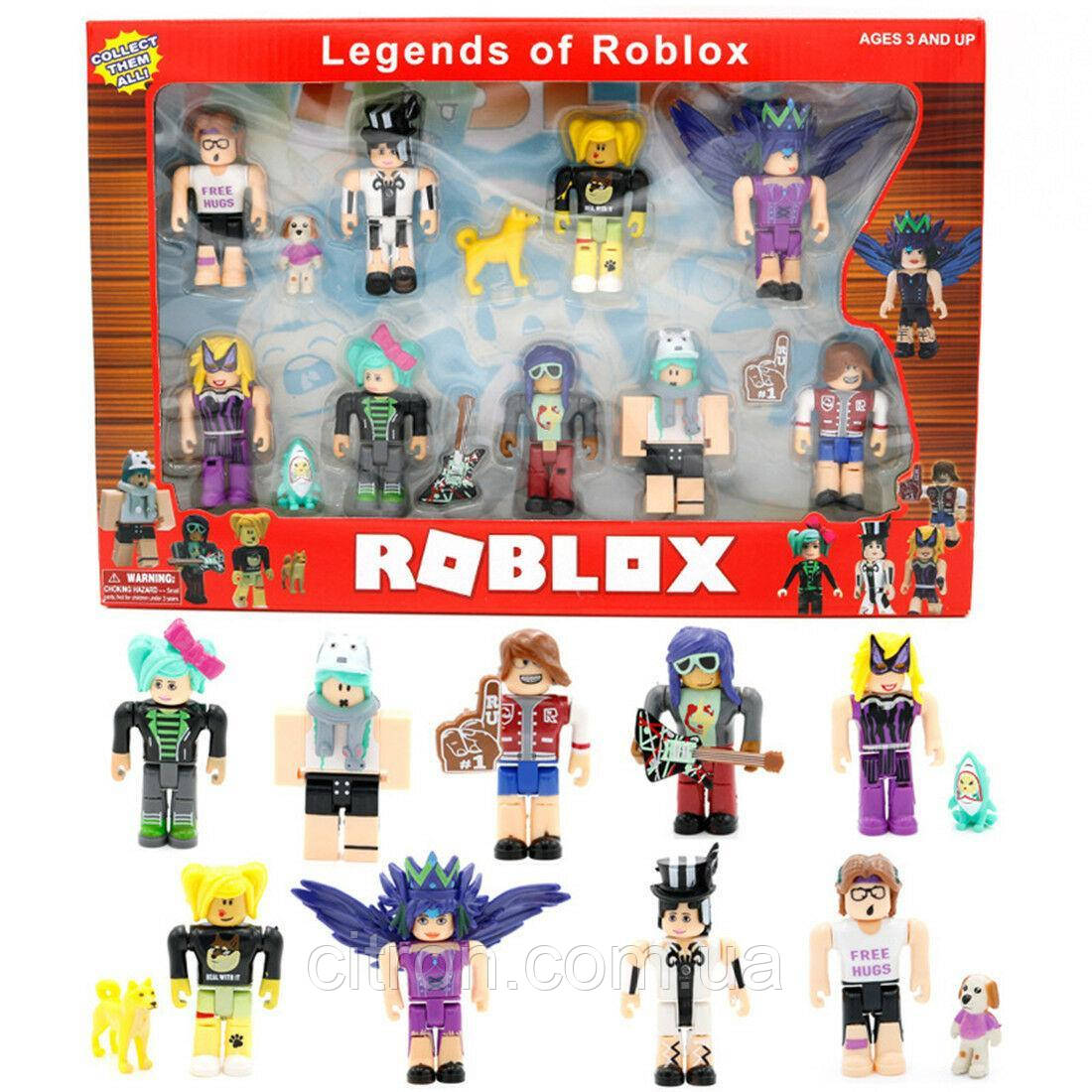"Роблокс Легенды Набор из 9 фигурок Roblox ""Legends of Roblox"""