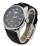 Мужские часы Winner Handsome экокожа Black
