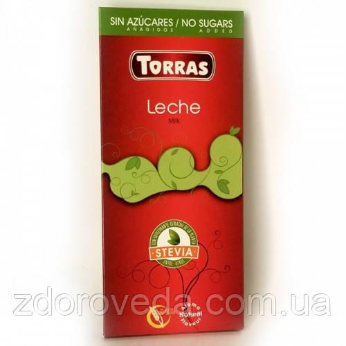 Молочный шоколад Torras, на стевии и эритрите