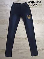 Лосины под джинс для девочек оптом, Seagull, 6-16 лет,  № CSQ-52453, фото 1