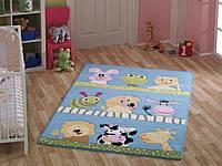 Ковер в детскую комнату Confetti - Animal бирюзовый 100х160