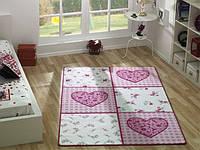Ковер в детскую комнату Confetti - Romantic розовый 133х190