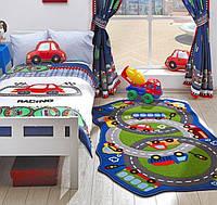 Ковер в детскую комнату Confetti - Circle Track зеленый 133х220