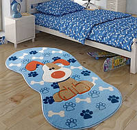 Ковер в детскую комнату Confetti - Snopy голубой 80х150
