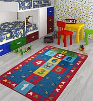 Ковер в детскую комнату Confetti - Seksek красный 133х190