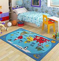 Ковер в детскую комнату Confetti - World голубой 100х150