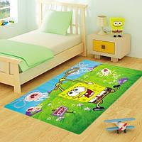 Ковер в детскую комнату Confetti - Sponge Bob Jellyfish Fields зеленый 133х190