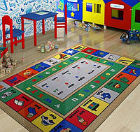 Ковер в детскую комнату Confetti - Lesson голубой 133х190