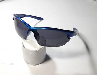 Окуляри спортивні у синій оправі , ТЕМНІ .Вело / риболовля / полювання / туризм (ВЕЛО ОКУЛЯРИ)
