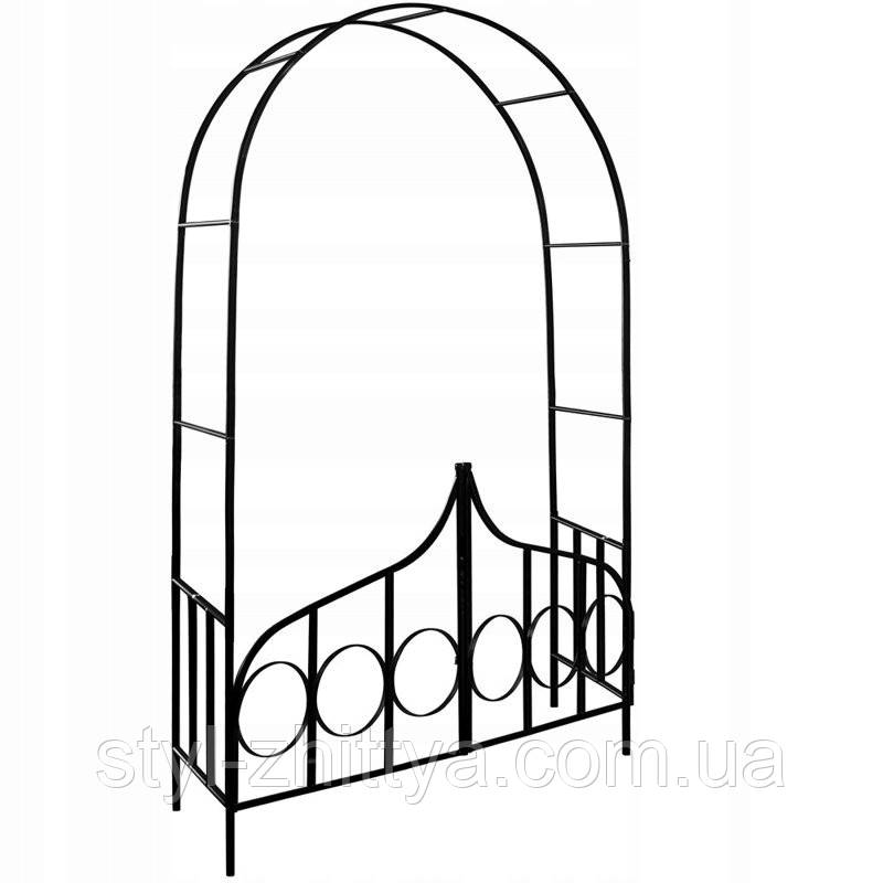 Металева арка для рослин