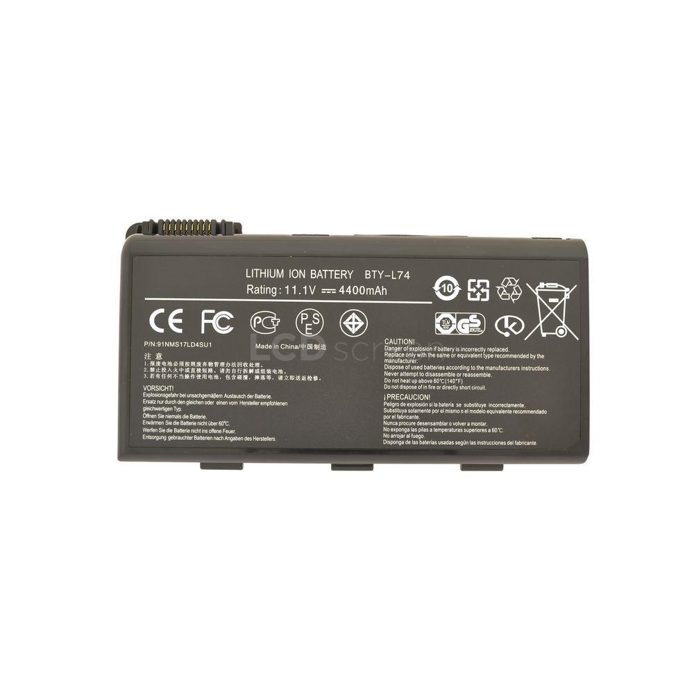 Аккумулятор для ноутбука MSI BTY-L74 A6000 11.1V черный 5200 mAh