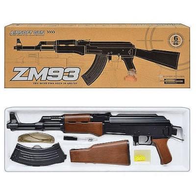 Автомат детский ZM 93, иммитация автомата Калашникова+очки + ремень, фото 2