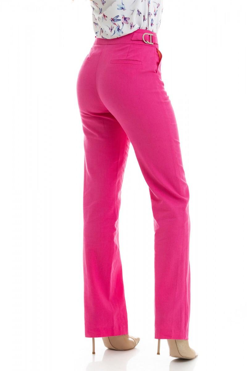 Стильные льняные брюки,малинового цвета 40,42,44,46,48,50,52
