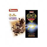 Черный шоколад, 72% какао, без сахара, Zero Torras, фото 2