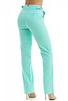 Стильные льняные брюки,мятного цвета 40,42,44,46,48,50,52, фото 1