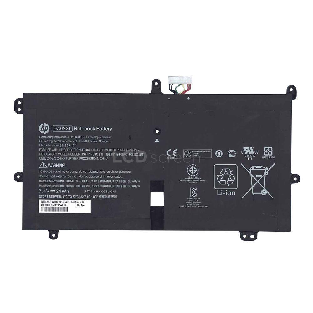 ОРИГИНАЛЬНЫЙ! Аккумулятор для ноутбука HP Compaq HSTNN-IB4C 7.4V черный 2860 mAh 21Wh