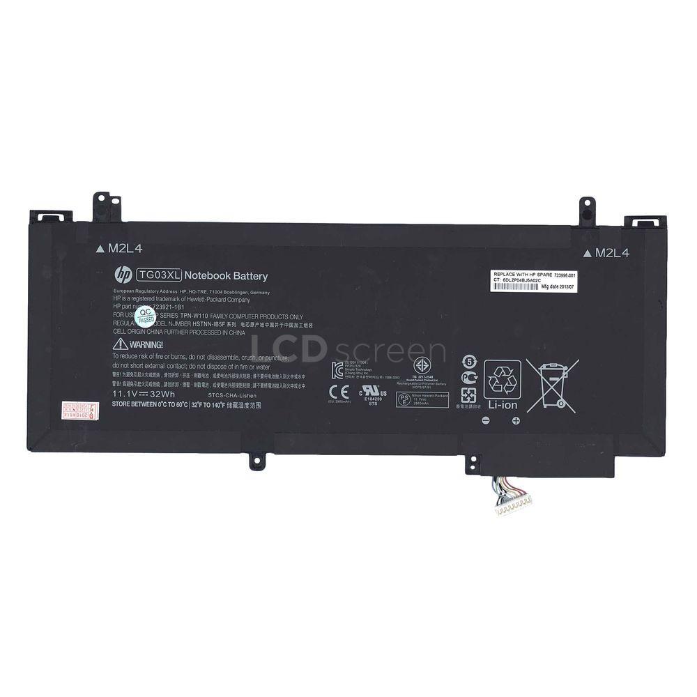 """ОРИГИНАЛЬНЫЙ! Аккумулятор для ноутбука HP Compaq HSTNN-IB5F (TG03XL) HP Split X2 13-g 13.3"""" 11.1V черный 2860 mAh 32Wh"""