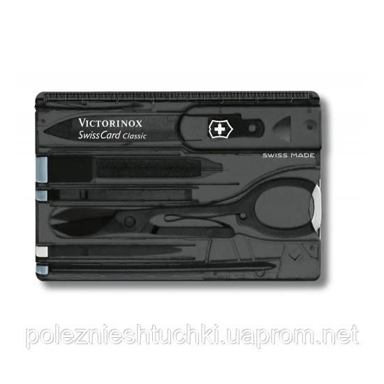 "Нож ""Victorinox"" Swisscard 82Х54Х4Мм/10Предм/Черн.Прозор - Интернет-магазин ""7-rays"" в Киеве"