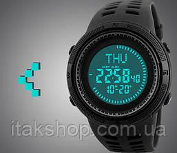 Спортивные тактические часы Skmei 1254 с компасом черные, фото 2