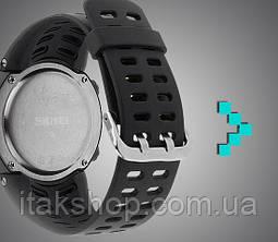 Спортивные тактические часы Skmei 1254 с компасом черные, фото 3